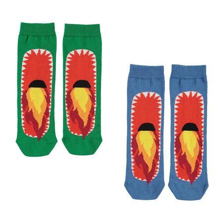 Kids Stella McCartney Child Set Of Two Dragon Socks - Blue