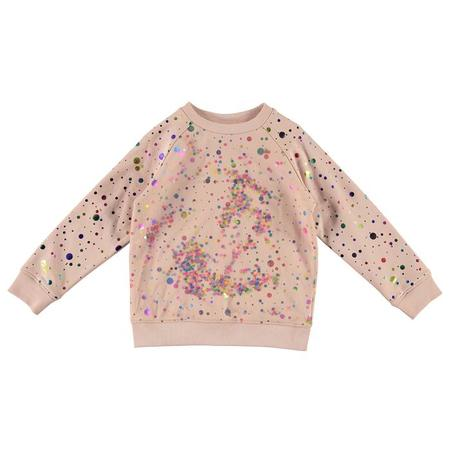 Stella McCartney Sweatshirt With Foil Dots And Sequin Tulle Layer - Pink