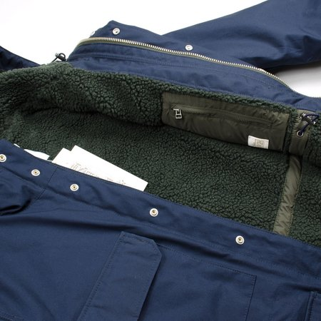 Norse Projects Nunk Cambric Cotton Parka - Dark Navy