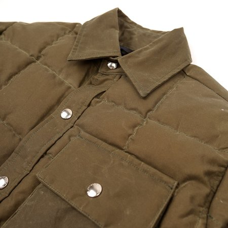 Crescent Down Works Down Shirt - Wax Olive