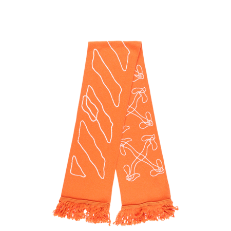 Off-White Abstract Arrows Scarf - ORANGE