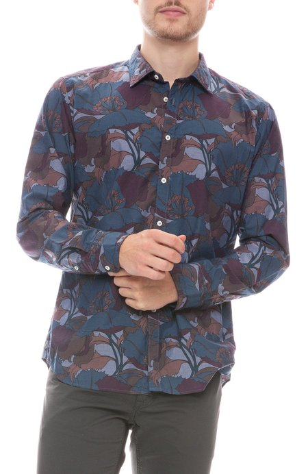 Bevilacqua David Abstract Print Shirt - Navy Multi