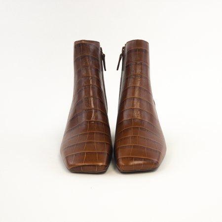 Mercedes Castillo Jimme Block Heel Boot - Brown Croc