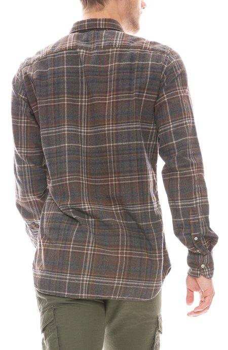 Bevilacqua David Check Lightweight Flannel - Brown Multi