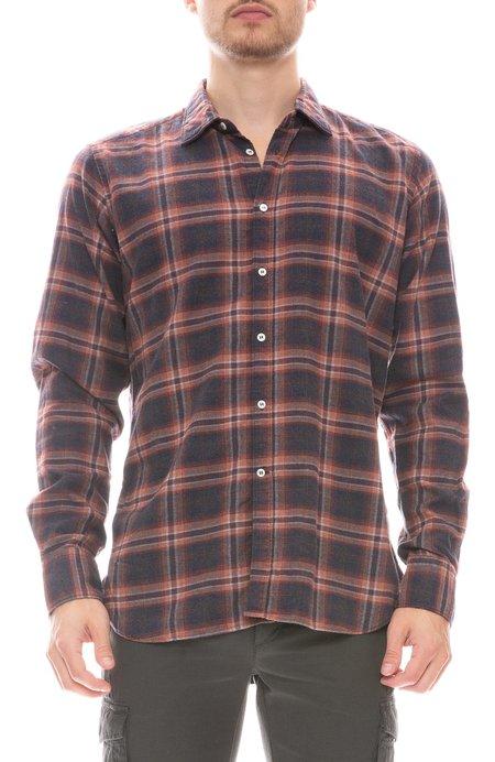 Bevilacqua David Check Shirt - CHARCOAL/ORANGE 1B