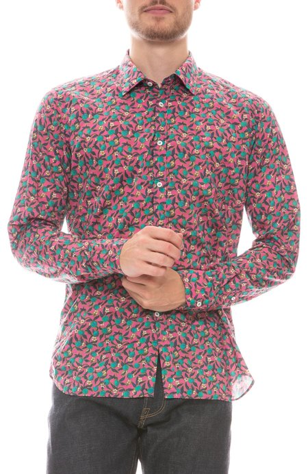 Bevilacqua David Floral Liberty Shirt - Pink Multi