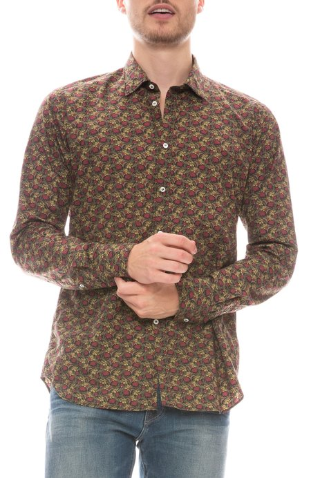 Bevilacqua David Liberty Floral Shirt - Olive