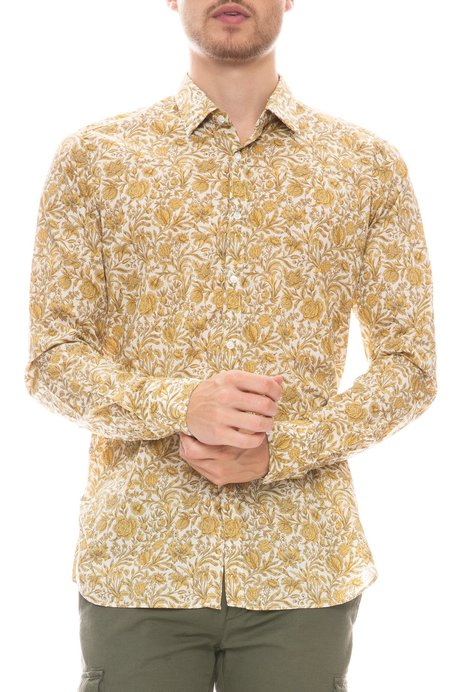 Bevilacqua David Liberty Foliage Print Shirt - Yellow Print