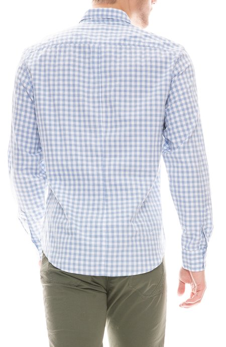 Frank & Eileen Don Brushed Cotton Shirt - Blue/White