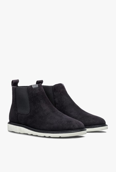 Clae Richards Vibram Chelsea Boot - Black Waxed