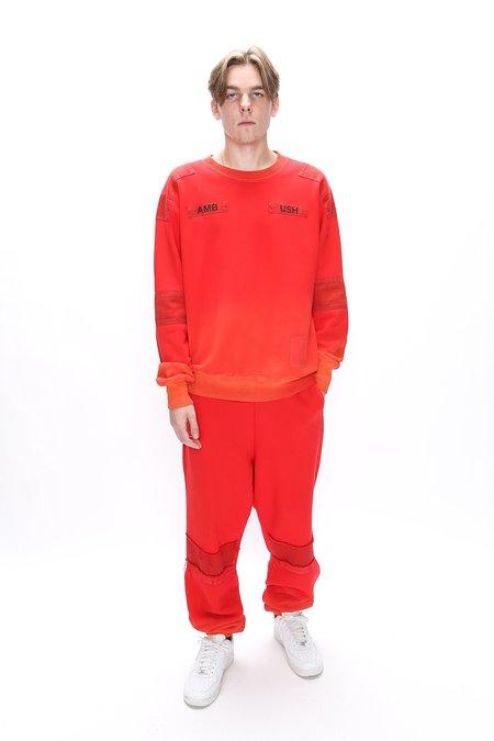 Ambush Bleach Patchwork Sweatpants - Orange