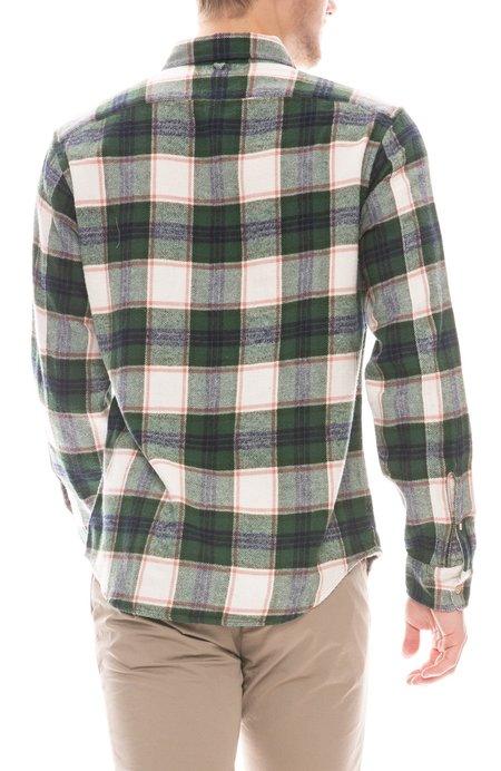 Alex Mill Standard Plaid Shirt - Ivory/Green