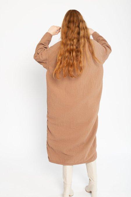 Black Crane Cotton/Linen Easy Dress - Camel