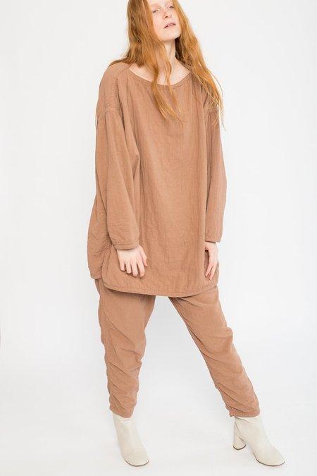 Black Crane Cotton/Linen Easy Pants - Camel