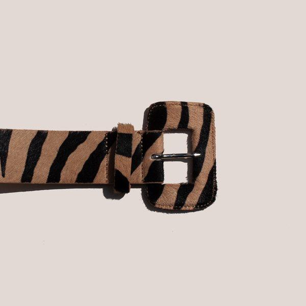 Maryam Nassir Zadeh Kelly Belt - Zebra Print