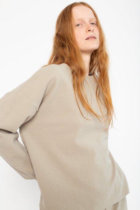 Black Crane Wool/Nylon Pullover - Ash