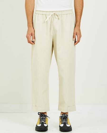 s.k. manor hill BAND PANT - OFF WHITE