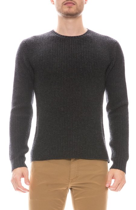 RON HERMAN Exclusive Waffle Cashmere Sweater