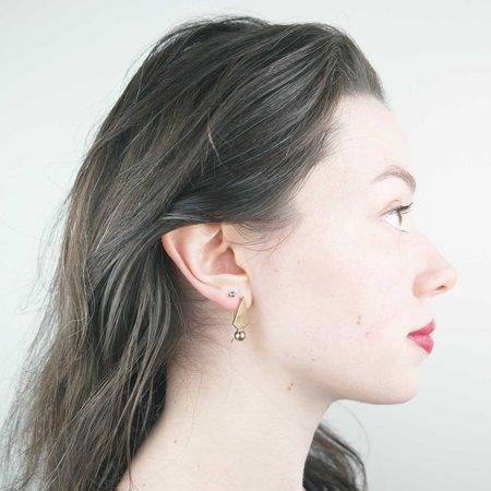 Knuckle Kiss Sun Beam Earrings - Bronze