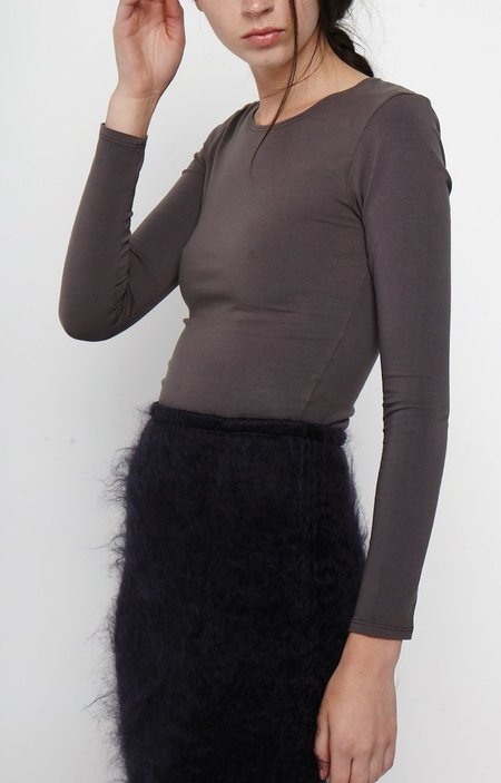 The Acey Jersey Crop Top  -Charcoal Grey