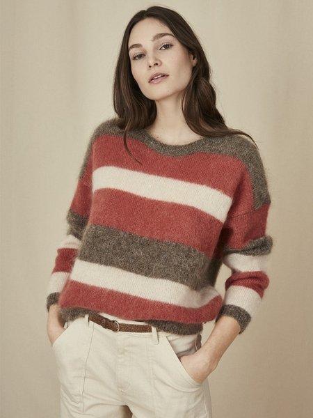 Des Petits Hauts Danvers Knit Sweater - Block Stripe