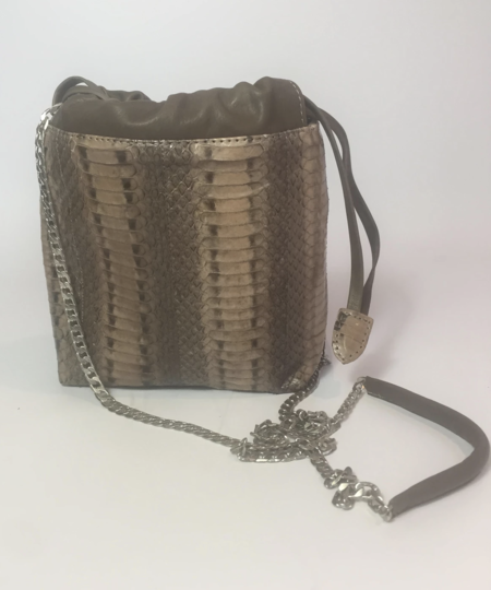 Let & Her Bijoux BAG - Taupe Water Snake