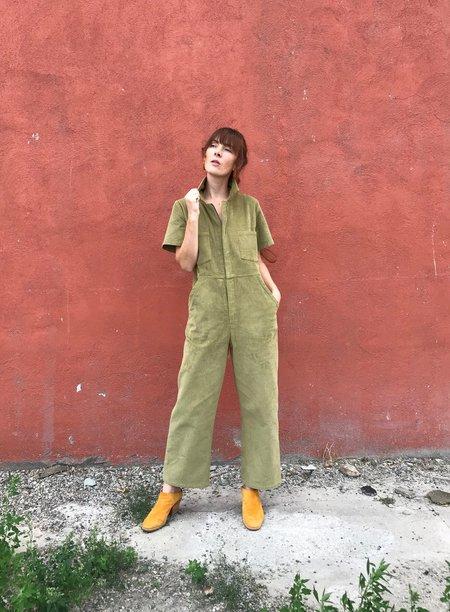 No.6 Freya Coverall - Lime Corduroy