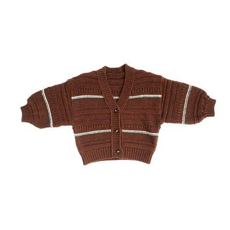KIDS Tambere Striped Cardigan - Chocolate