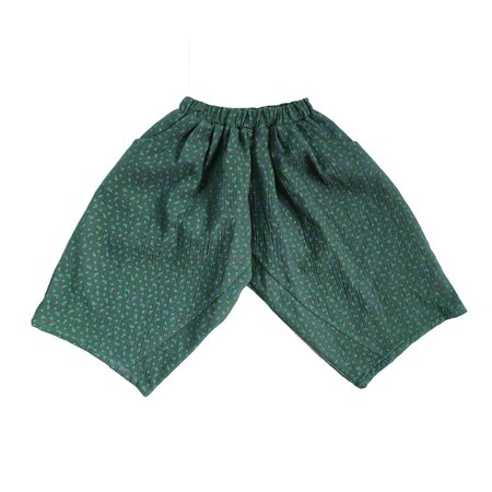 KIDS Tambere Wide Leg Pant - Dark Green Flower