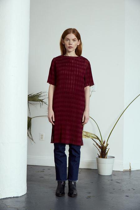 Rujuta Sheth Chelsea Pleated Dress - Rosewood