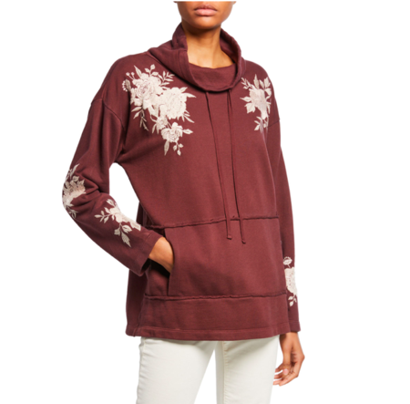 Johnny was SANTAL TURTLE NECK SWEATSHIRT - BURGUNDY