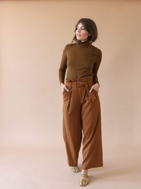 Michelle by Comune Mockneck Sweater - Brown