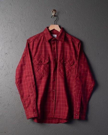 Tellason Clampdown Shirt - Burgundy Plaid
