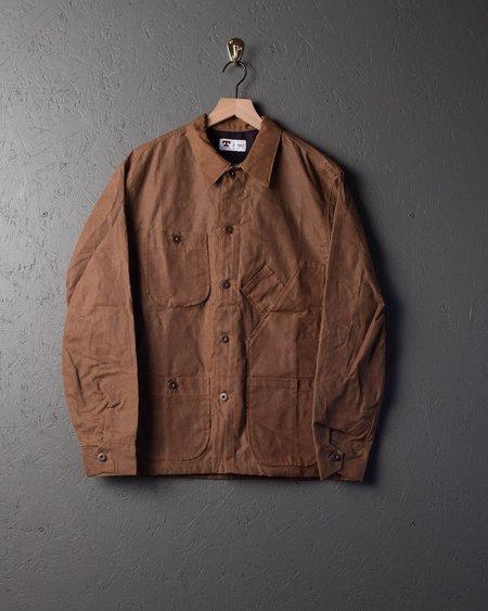 Tellason Waxed Canvas Coverall Jacket - Brown
