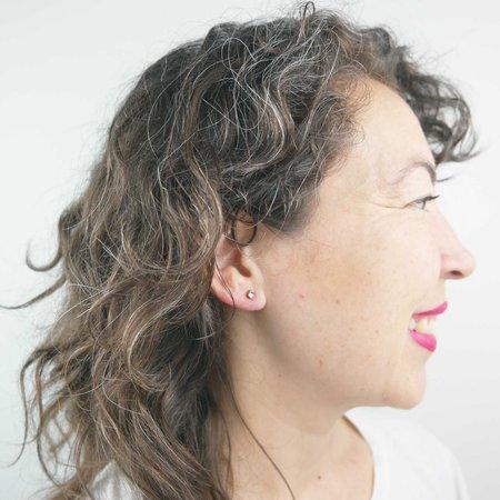 Favor Cubic Zirconia Spike Post Earrings - Gold