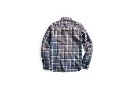 RRL Plaid Twill Workshirt - Navy/Grey