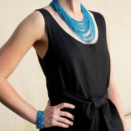 Eva Nueva Beaded Necklace - Blue Topaz/Turquoise