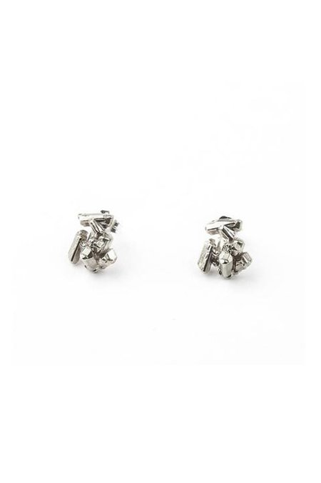 Angela Monaco Rock Candy Crystal Studs - Silver