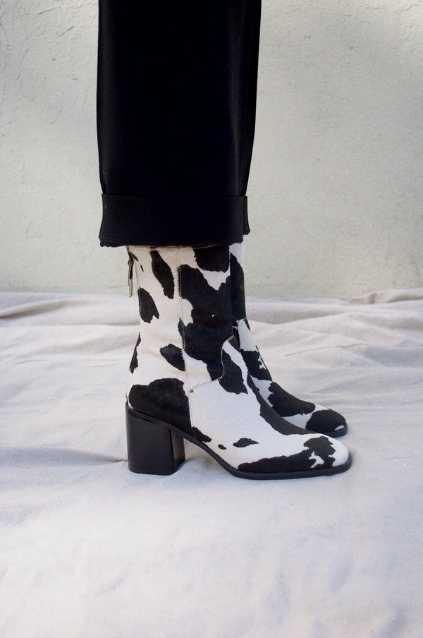 """INTENTIONALLY __________."" PG Cowhide Boot - Moo"