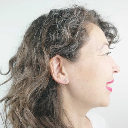 Silversheep Jewelry Herkimer Diamond Stud Earrings - Gold