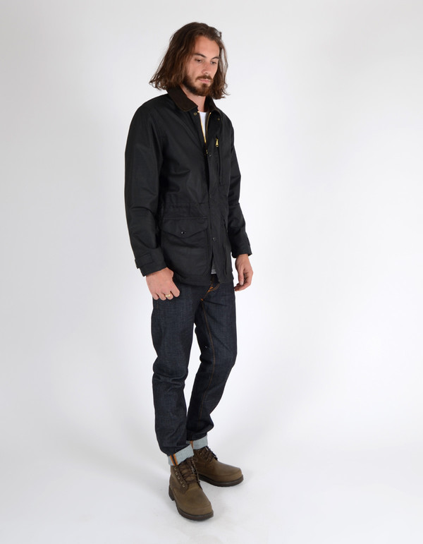 af2e9343f Men's Filson Cover Cloth Mile Marker Coat Black