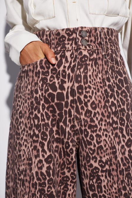 Cameo Reiterate Jean - Brown Leopard