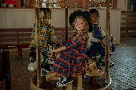 KIDS Hey Gang Flannel Pocket Dress - Poppy