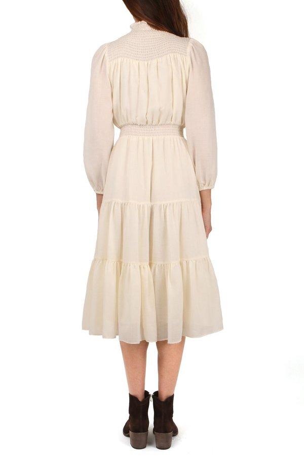 Warm Daisy Dress - Ecru