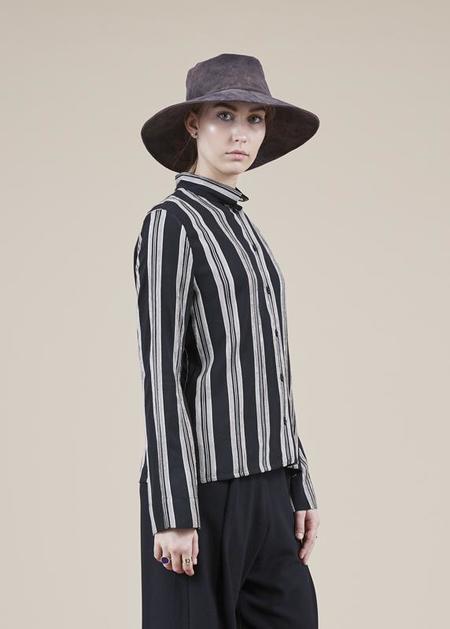 annette gortz Maude Striped Shirt - Black/Salt