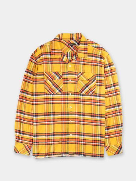 Engineered Garments Cotton Twill Plaid Classic Shirt - Yellow