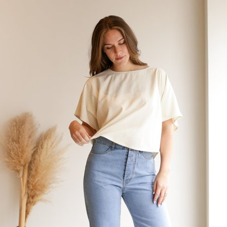 Jamie + The Jones The Blank Canvas Top - Natural