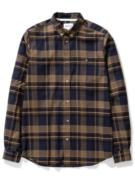 Norse Projects Anton Check Shirt - Ivy Green