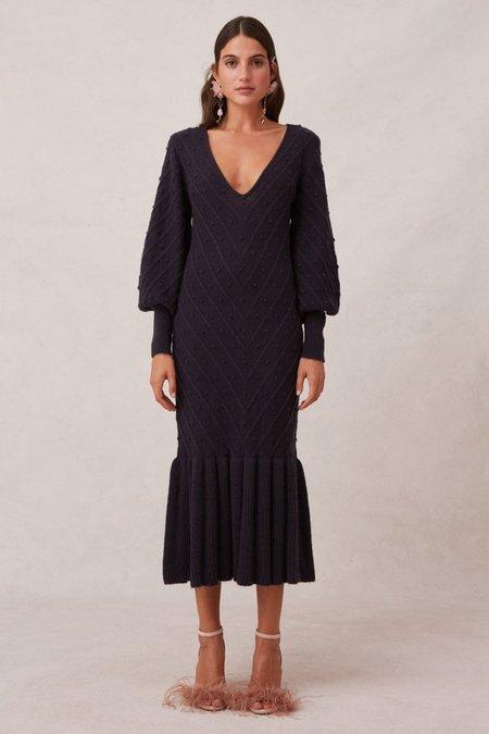 Keepsake Melody Knit Dress - Midnight