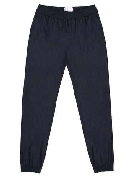 Wax London Tripp Wool Trouser - BLACK